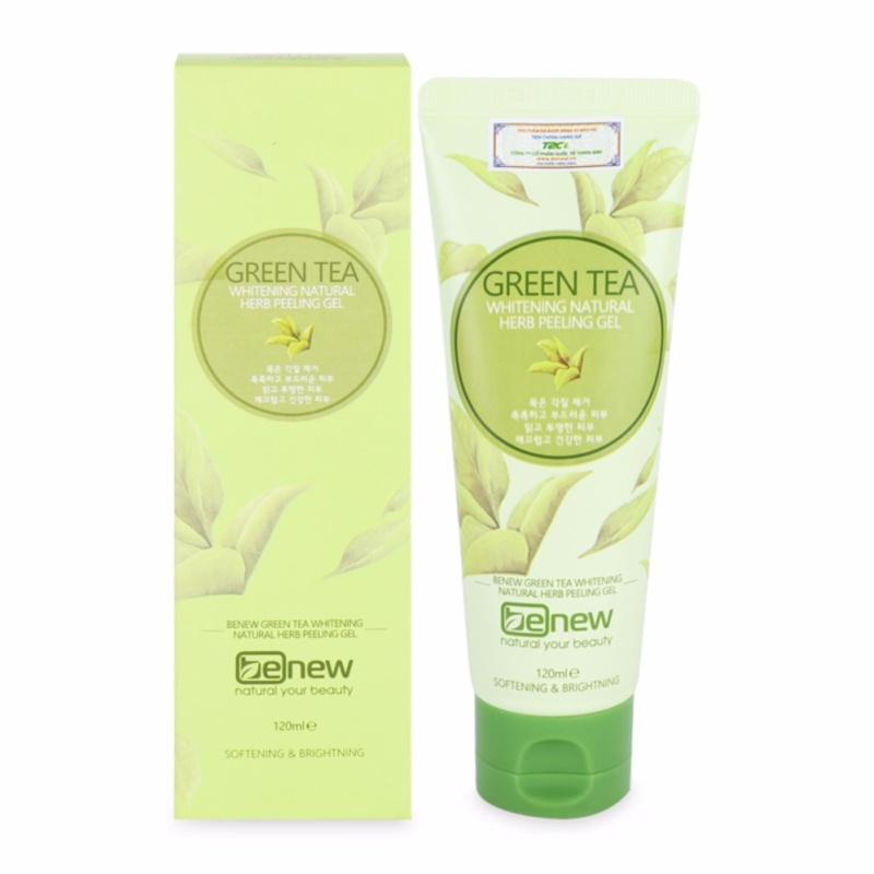 Tẩy da chết trắng da sạch mụn Green Tea Peeling Gel Cao cấp Hàn Quốc 120ml - Hàng chính hãng nhập khẩu