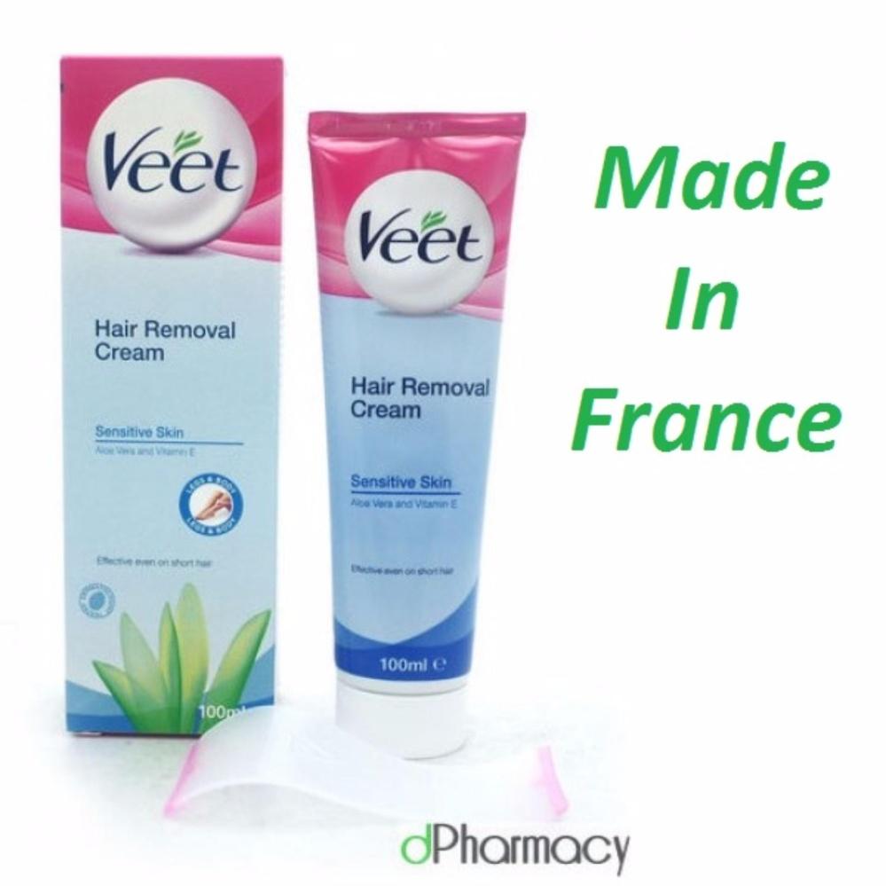 Hình ảnh Tẩy lông Veet Pháp 100ml dành cho da nhạy cảm - xanh lá