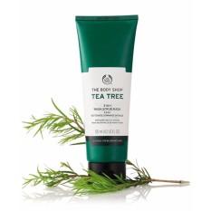 Tẩy tế bào chết THE BODY SHOP Tea Tree 3-in-1 wash scrub mask 125ml nhập khẩu