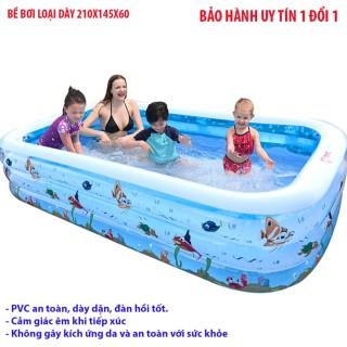 Bể phao bơi hình chữ nhật V210 - Dòng sản phẩm cao cấp, chất liệu dày dặn, độ đàn hồi cao + Tặng bơm bể phao bơi Mẫu 1 - Bh uy tín 1 đổi 1 bởi HDSHOP thumbnail