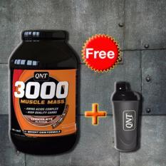 Thực phẩm bổ sung 3000 Muscle Mass Protein 4,5Kg + Tặng bình lắc Shaker (Đen) chính hãng