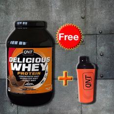 Thực phẩm bổ sung Delicious Whey Protein 2.2kg + Tặng bình lắc Shaker (Cam) nhập khẩu