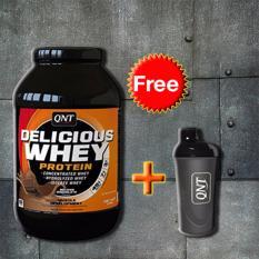 Thực phẩm bổ sung Delicious Whey Protein 2.2kg + Tặng bình lắc Shaker (Đen)