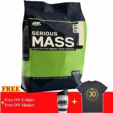 Thực Phẩm Bổ Sung Tăng Ký On Serious Mass Vanilla 12 Lb Tặng Binh Lắc Va Ao Thun Optimum Nutrition Chiết Khấu 50