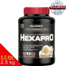 [THỰC PHẨM DINH DƯỠNG THỂ THAO] Whey Protein Tăng Cơ Allmax Hexapro Vanilla 5.5 Lbs (2.5kg)