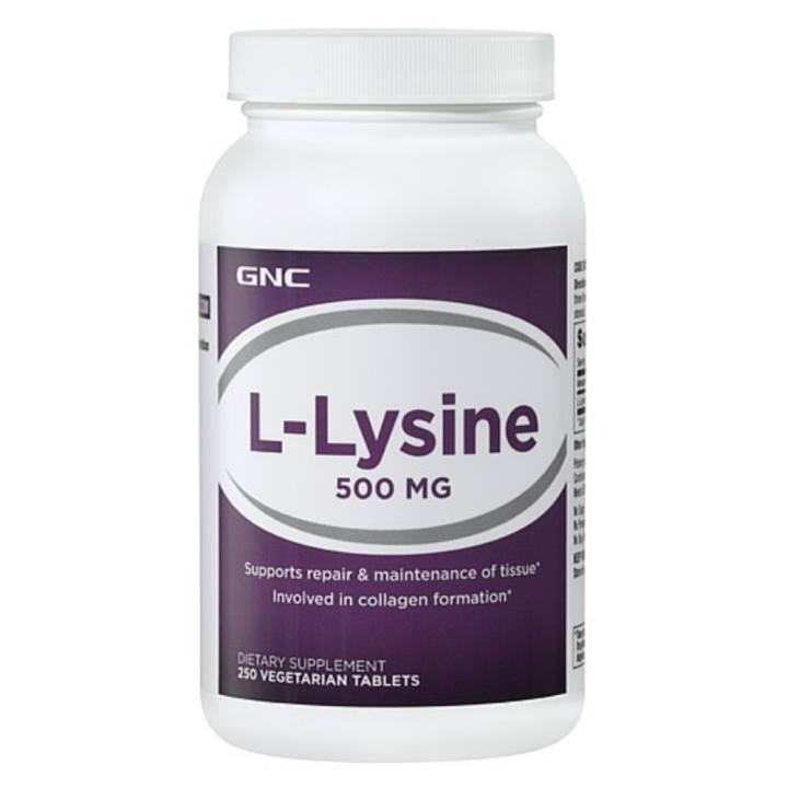 Thực phẩm chức năng tăng sức đề kháng GNC L-Lysine 500MG chai 250 viên
