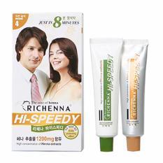 Thuốc nhuộm phủ bạc Richenna màu nâu hạt dẻ - số 1 Hàn Quốc