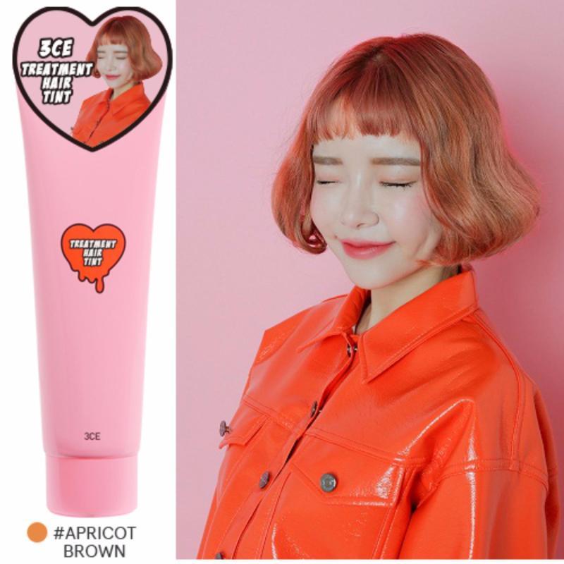 Thuốc nhuộm tóc 7 ngày 3CE Treatment Hair Tint #Apricot Brown cao cấp