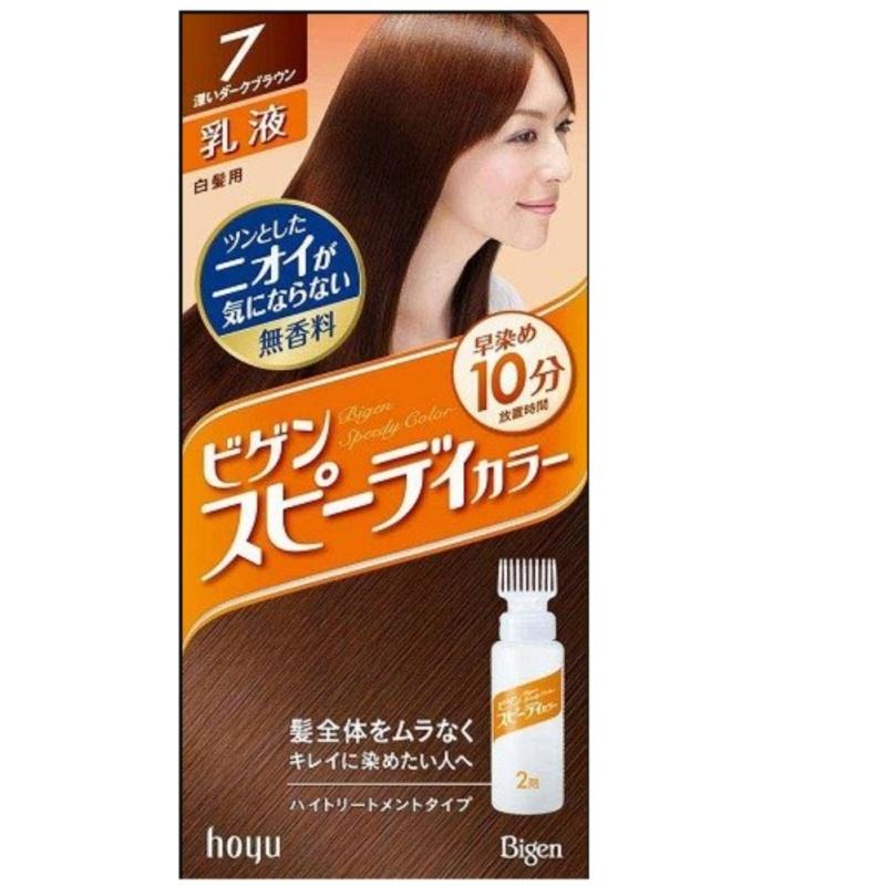 Thuốc nhuộm tóc Nhật Bản Bigen Hoyu Số 7 ( Nâu đen ) tốt nhất