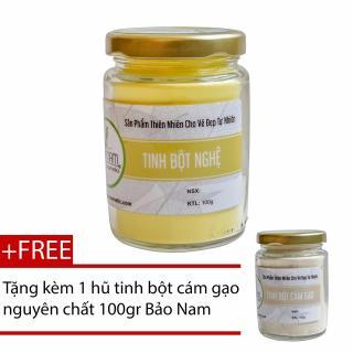 Tinh Bột Nghệ Nguyên Chất 100gr + Tặng Tinh Bột Cám Gạo Nguyên Chất 100gr thumbnail