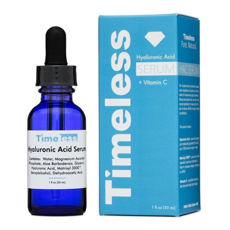 Tinh Chất Cấp Ẩm, Dưỡng Sáng Da Timeless Hyaluronic Acid Serum Vitamin C 30ml nhập khẩu