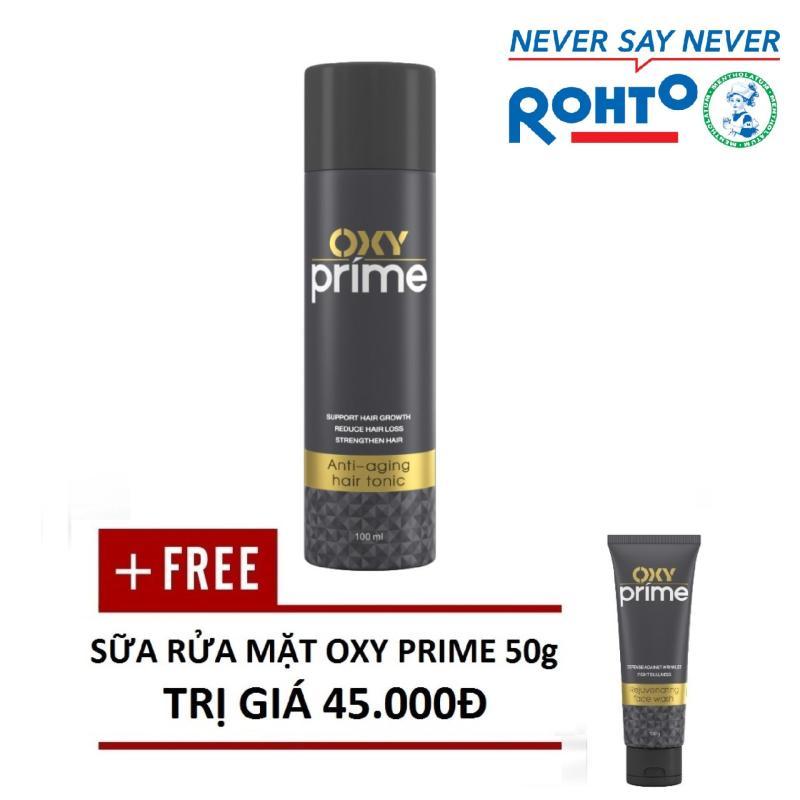 Tinh chất ngăn lão hóa tóc Oxy Prime 100ml (tặng Kem rửa mặt Oxy Prime giá 45.000đ) nhập khẩu