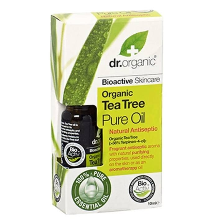 Tinh dầu tràm trà Organic Tea Tree Pure Oil 10ml kiềm dầu, trị mụn