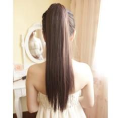 Tóc giả nữ cột thẳng Hàn Quốc cao cấp - TG8440 ( dài 60cm - MÀU NÂU ĐẬM )