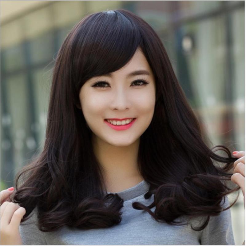 Tóc giả nữ Hàn Quốc cao cấp có da đầu + tặng kèm Lưới trùm tóc -  TG4855 ( MÀU NÂU TỐI, TRONG HÌNH LÀ MÀU ĐEN TỰ NHIÊN ) nhập khẩu