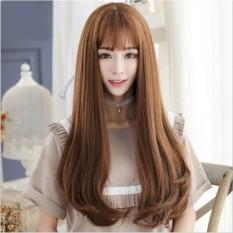 [TẶNG KÈM LƯỚI] Tóc giả nữ nguyên đầu sợi tơ Hàn Quốc CÓ DA ĐẦU - TG55 ( NÂU VÀNG Y HÌNH ) nhập khẩu