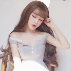 Tóc giả nữ Hàn Quốc cao cấp có da đầu + tặng kèm Lưới trùm tóc -  TG5765 ( MÀU NÂU SÁNG HẠT DẺ)