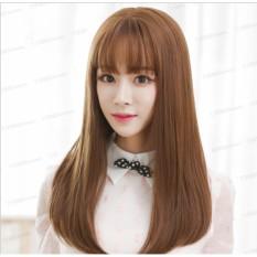 [TẶNG KÈM LƯỚI] Tóc giả nữ nguyên đầu sợi tơ Hàn Quốc CÓ DA ĐẦU - TG78 ( NÂU VÀNG Y HÌNH )