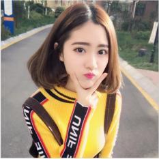 Tóc giả nữ Hàn Quốc có da đầu + tặng Lưới trùm - TG8165 ( MÀU NÂU ĐẬM )