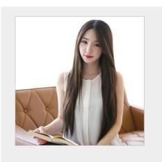 Tóc giả nữ Hàn Quốc cao cấp có da đầu - TG2160 ( NÂU ĐẬM ) giá rẻ