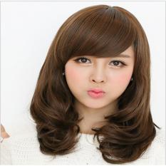 Tóc giả nữ Hàn Quốc cao cấp có da đầu -  TG2756 ( NÂU HẠT DẺ )