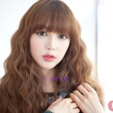 Tóc giả nữ Hàn Quốc cao cấp có da đầu - TG3560 ( NÂU NHẠT HẠT DẺ NHƯ HÌNH )