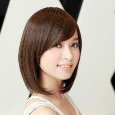 Tóc giả nữ Hàn Quốc cao cấp có da đầu -  TG4155 ( NÂU ĐẬM HẠT DẺ ) giá rẻ