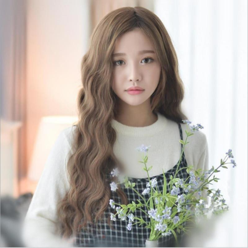 Tóc giả nữ Hàn Quốc cao cấp có da đầu -  TG4270 ( NÂU NHẠT HẠT DẺ ) nhập khẩu
