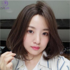[TẶNG KÈM LƯỚI] Tóc giả nữ nguyên đầu sợi tơ Hàn Quốc CÓ DA ĐẦU - TG81 ( NÂU TỐI )