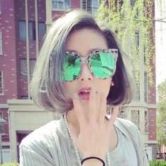 Tóc giả nữ màu rêu khói cực tây có da đầu + tặng Lưới trùm tóc - TG8855 ( MÀU RÊU KHÓI NHƯ HÌNH ) giá rẻ