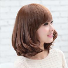 [TẶNG KÈM LƯỚI] Tóc giả nữ nguyên đầu sợi tơ Hàn Quốc CÓ DA ĐẦU - TG673 ( NÂU TỐI - trong hình là nâu sáng )