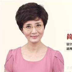 Tóc giả nữ trung niên Hàn Quốc cao cấp + tặng lưới -  TG10412 ( NÂU TỐI NHƯ HÌNH ) tốt nhất