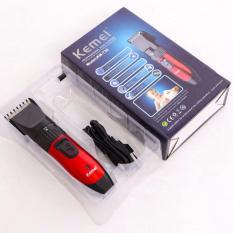 Tông đơ cắt tóc Kemei KM 730 (Đen phối đỏ) nhập khẩu