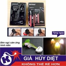 Tông đơ cắt tóc kiêm máy cạo râu Boteng BT-T1 - Tặng đèn ngủ cảm ứng hình nấm