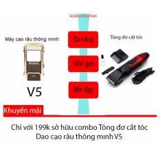 Giá Bán Tong Đơ Cắt Toc Giao Mau Ngẫu Nhien May Cạo Rau V5 Tốt Nhất