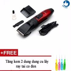Hình ảnh Tông đơ cắt tóc trẻ em Kemei 730 + Tặng kèm 2 dụng cụ lấy ráy tai có đèn