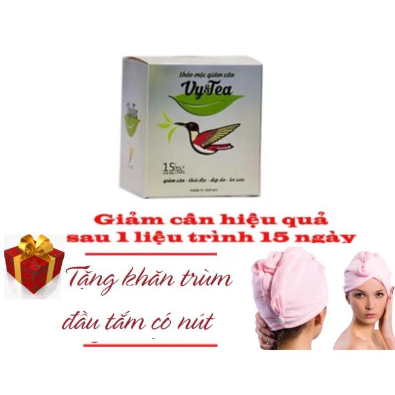 Trà Giảm Cân Tan Mỡ Vy & Tea - CHÍNH HÃNG (Liệu Trình 15 Ngày) + Tặng Khăn Quấn Đầu Đi Tắm nhập khẩu