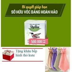 Hình ảnh Trà Giảm Cân Tan Mỡ Vy Tea - CHÍNH HÃNG (Liệu Trình 15 Ngày) + khăn làm bếp xinh xắn