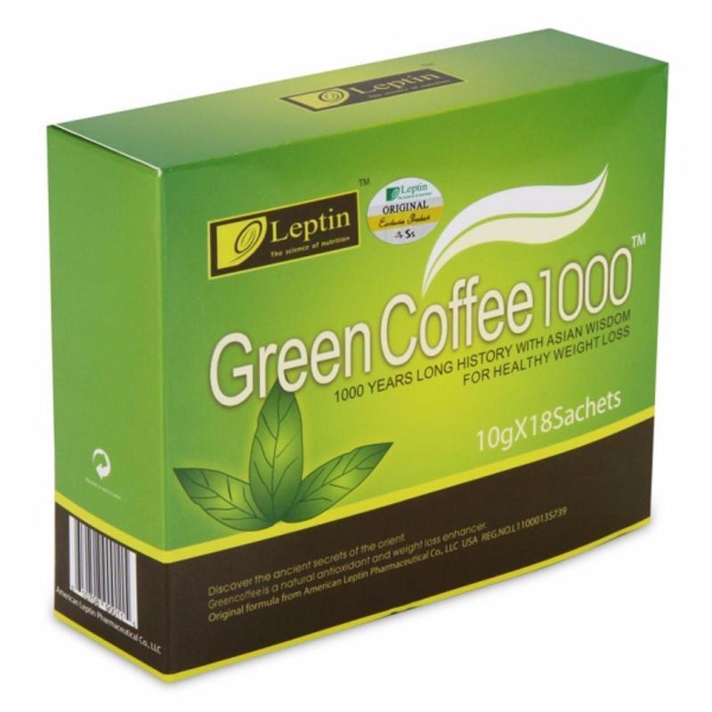 Trà xanh tan mỡ bụng, tan mỡ đùi green coffee 1000 từ MỸ ( 18 gói) cao cấp