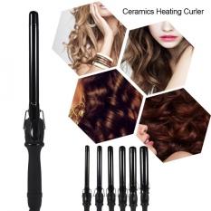 Tube Shape Deep Curly Ceramic Curling Iron Heating Hair Wave Curler 32mm - intl