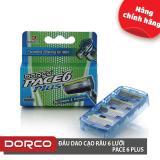 Giá Bán Vỉ 04 Đầu Cạo Rau 6 Lưỡi Dorco Pace 6 Plus 6 Lưỡi Đầu Cắt Toc Mai Rẻ Nhất
