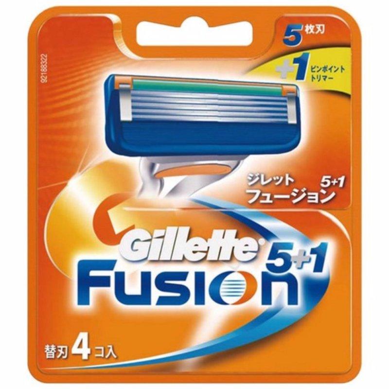 Vỉ 4 lưỡi dao cạo râu Gillette Fusion 5 + 1