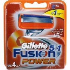Vỉ 4 Lưỡi Dao Cạo Râu Gillette Fusion Power 5+1