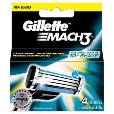 Giá Bán Vỉ 4 Lưỡi Dao Gillette Mach3 Nguyên