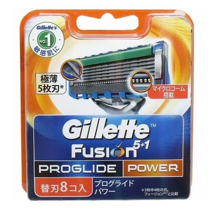 Vỉ  8 Lưỡi Dao Cạo Râu Gillette Fusion ProGlide Power 5+1 giá rẻ