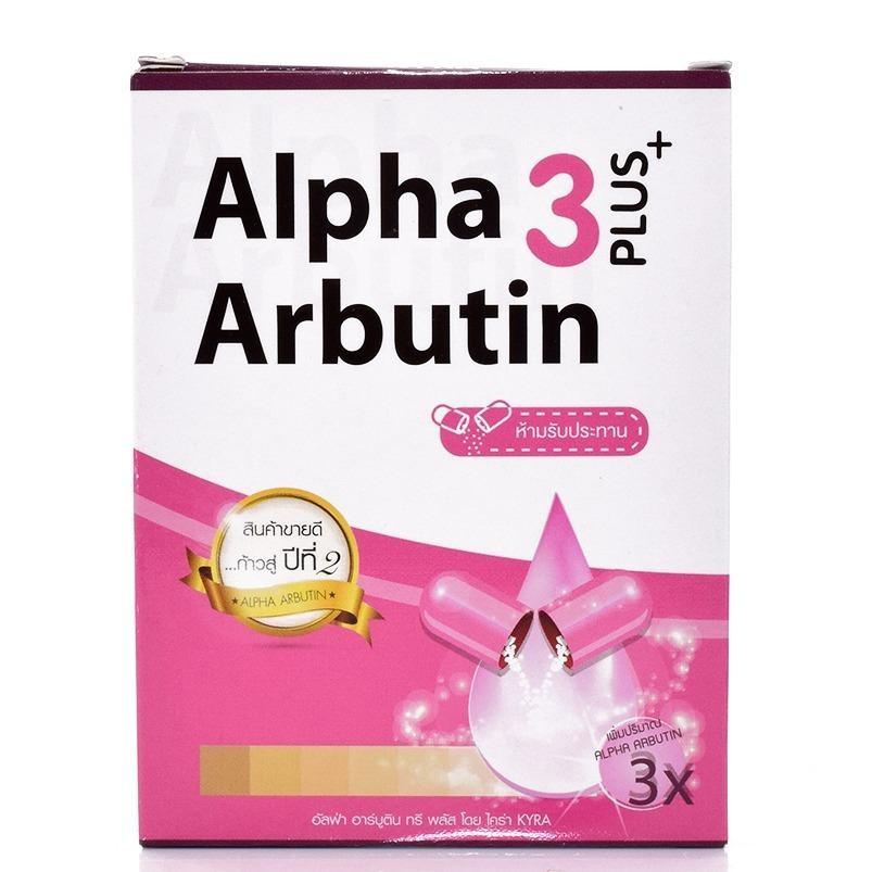 Viên kích trắng da toàn thân Alpha Arbutin 3 Plus+ 10 viên Thái Lan