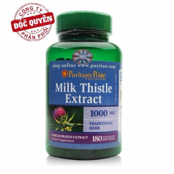Sales 85% - Viên uống bổ, mát, giải độc gan (HSD: 30/08/2020), tăng cường chức năng gan Puritans Pride Milk Thistle Extract 1000mg 180 viên giá rẻ