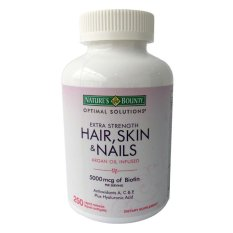 Giá Bán Rẻ Nhất Vien Uống Chăm Soc Da Mong Va Toc Nature S Bounty Extra Strength Hair Skin Nails 250 Vien 250 Vien