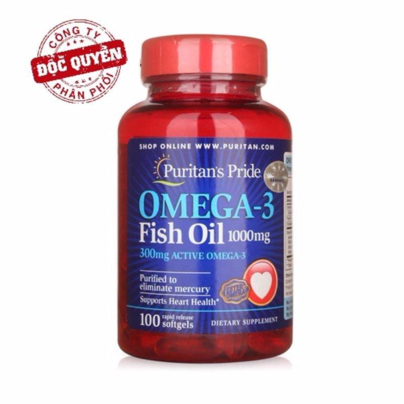 Dầu cá bổ sung EPA DHA bổ mắt, não, tim mạch, tăng cường hệ miễn dịch Puritans Pride Omega-3 Fish Oil 1000mg Omega 3 hsd 11/2019 nhập khẩu