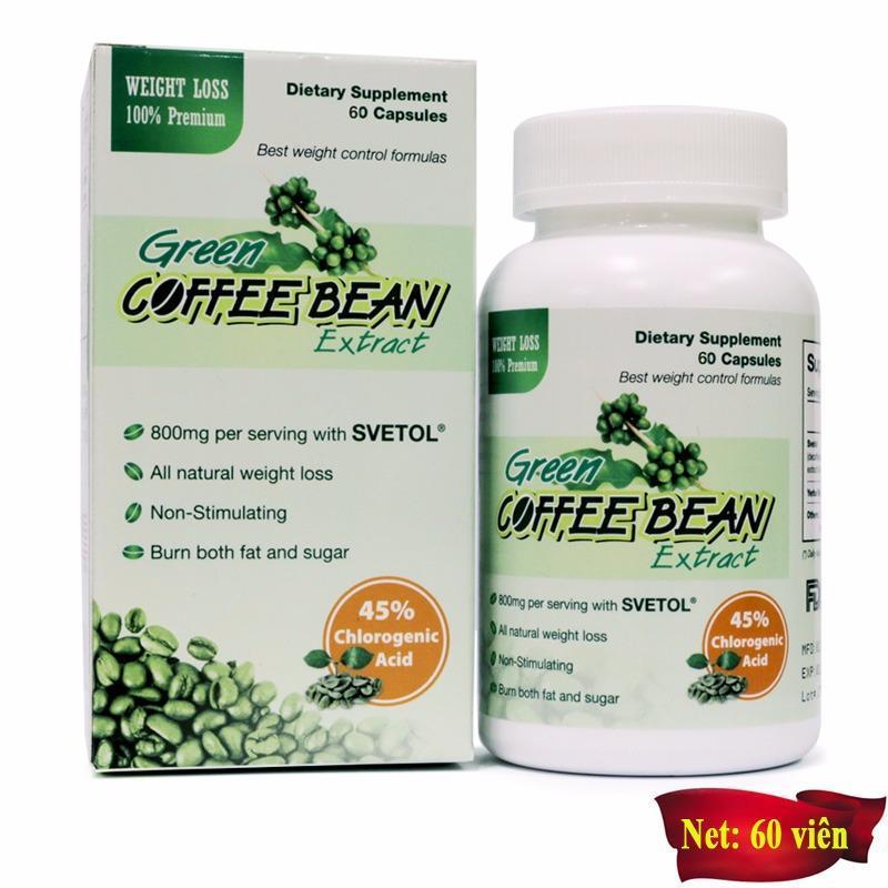 Viên uống giảm cân Green Coffee Bean (60 viên) cao cấp